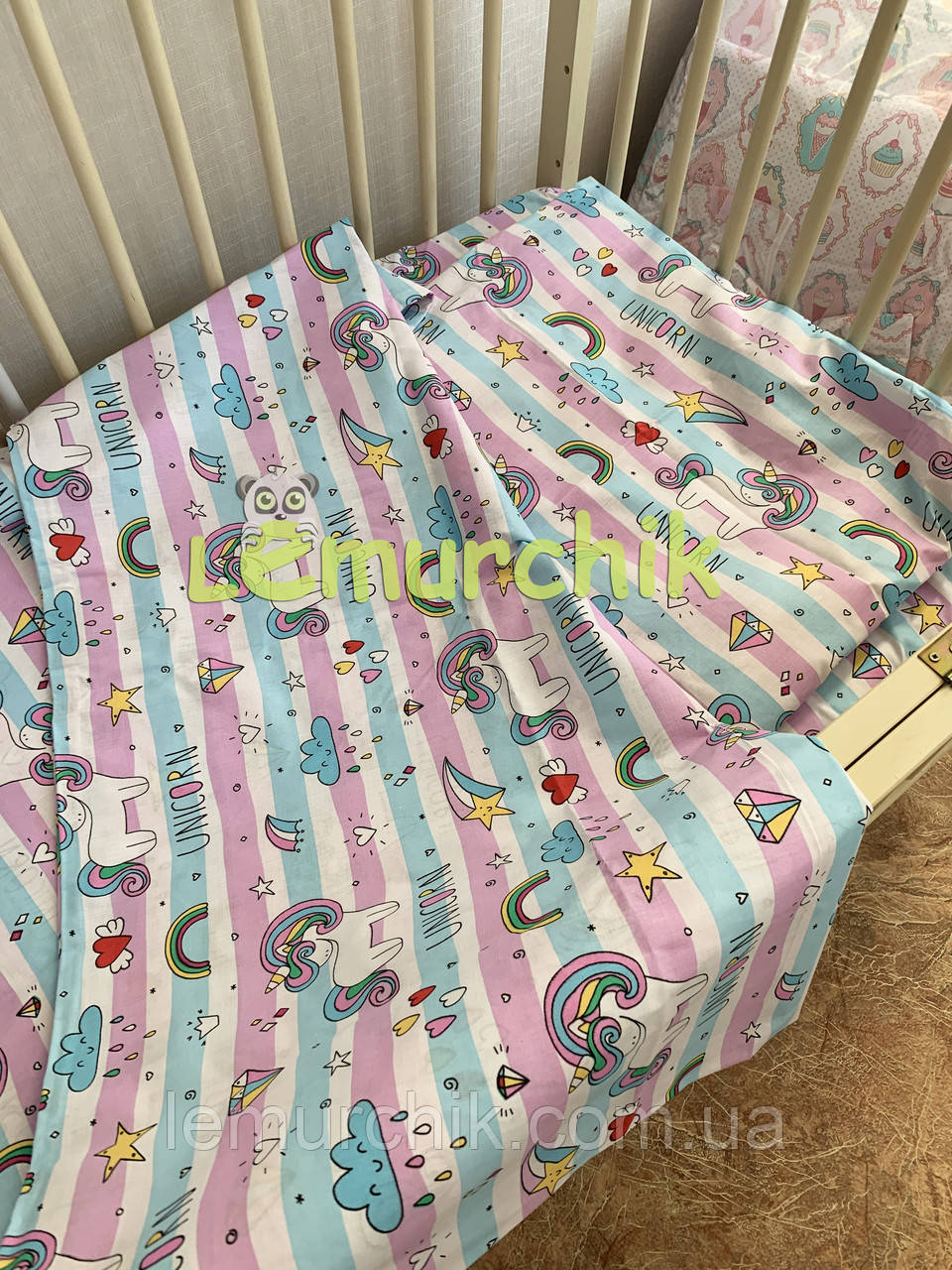 Постільний набір в дитячу ліжечко (3 предмета) Зірочка 2