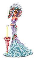 """Схема для вишивання бісером на атласі """"Венеціанська дама"""", Розмір 24х41 див."""