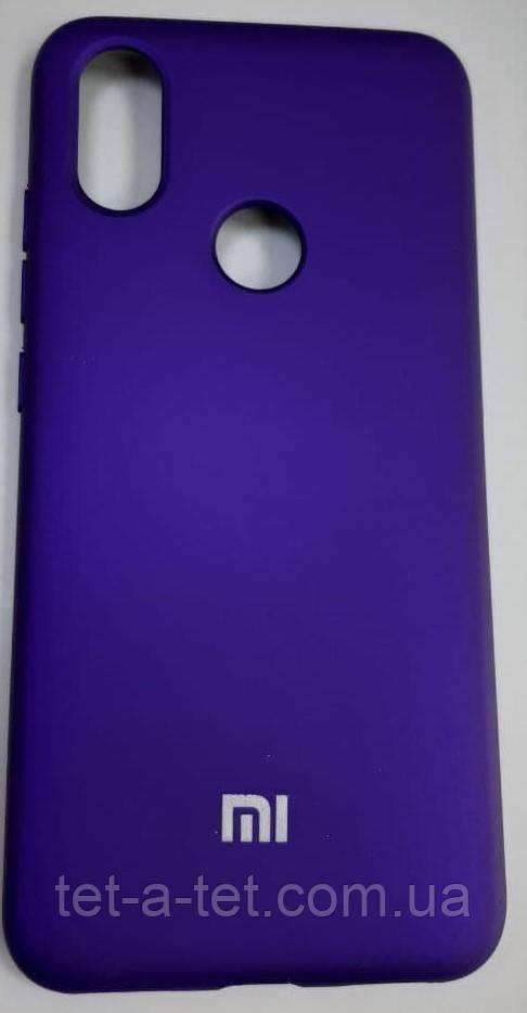 Силиконовый чехол-накладка Color Silk для Mi A2 Purple