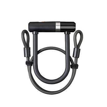 Велозамок AXA Newton U-Lock Mini 150/14 + Cable 100/8 черный