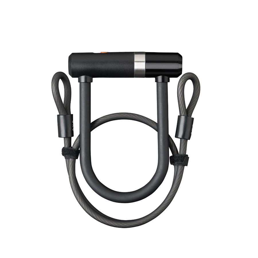 Велозамок AXA Newton U-Lock Mini Pro 140/16 + Cable100/10, чорний Замок для велосипеда U-подібний