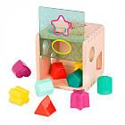 Развивающая деревянная игрушка-сортер - Волшебный куб Battat BX1763Z, фото 5