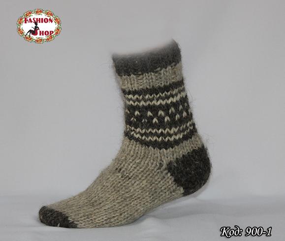 Настоящие шерстяные носки ручной работы Бостон