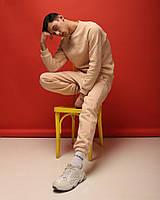 "Костюм мужской зимний ""Soul"" штаны+свитшот бежевый - S, L, XL"