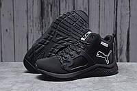 Зимние мужские кроссовки 31723, Puma, черные, [ 43 46 ] р. 43-27,0см. (T7-D)