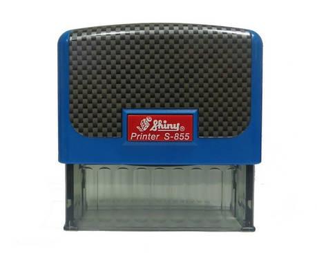 "Оснастка пластиковая для штампа Shiny Printer S-855 ""Карбон"" 70х25мм, синяя, фото 2"