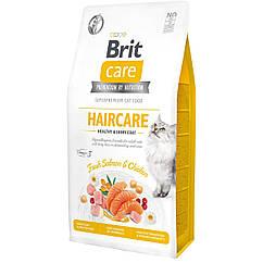Сухой корм для кошек Brit Care Cat GF Haircare Healthy & Shiny Coat 7 кг (курица и лосось)