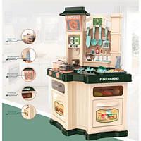 Кухня 848A-B духовка, плита, мойка(льется вода),посуда, продук,зв,св,2в,бат,в кор,57-55-12,5 см
