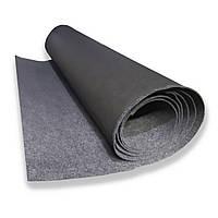 Карпет с подложкой, Автоковролин, Черный 160 см