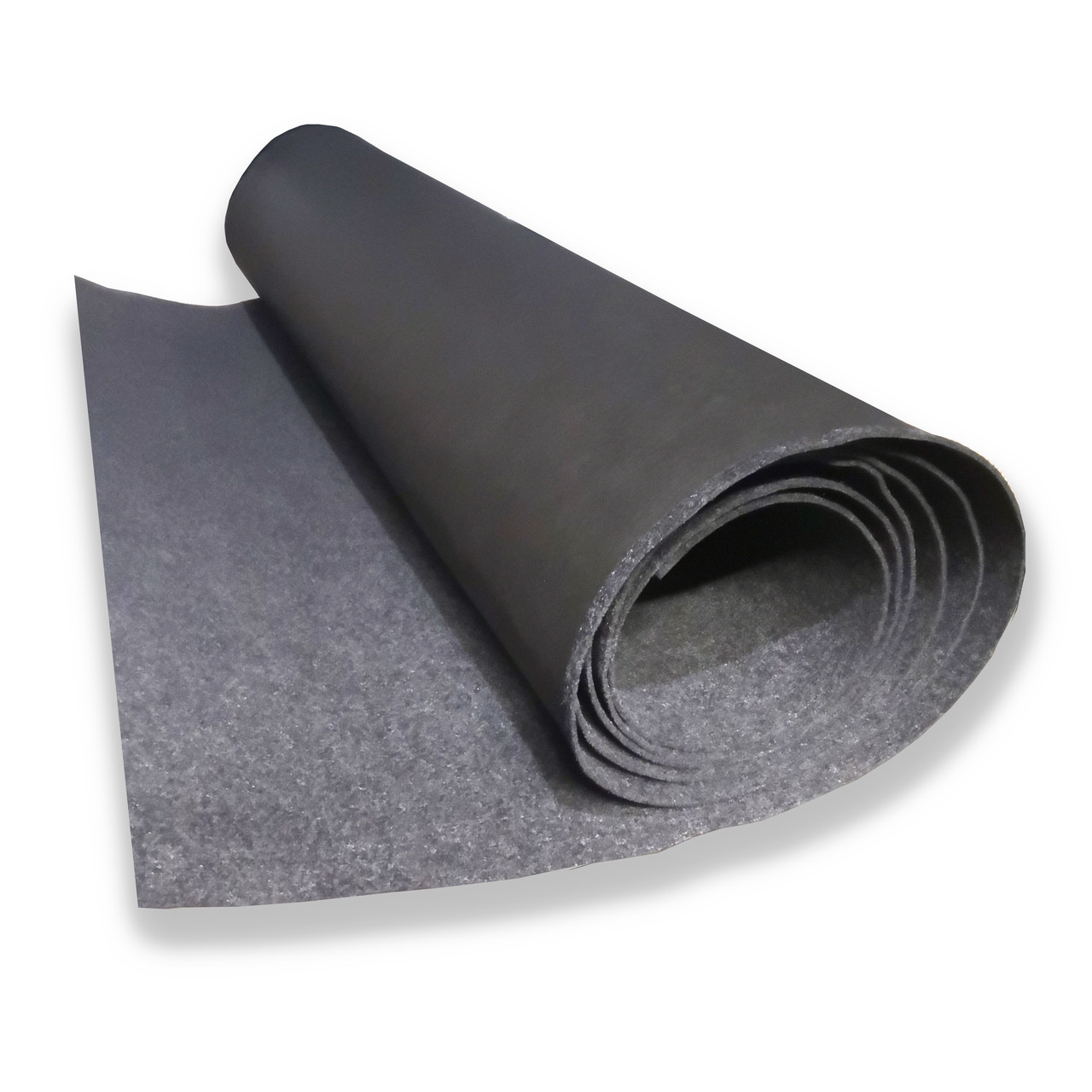 Карпет з підкладкою, Автоковролин, Чорний 160 см