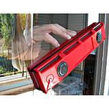 Двусторонняя магнитная щетка для мытья окон Magnet Glass Cleaner The Glider   магнитный скребок для стекол, фото 2