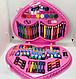 Набор для детского творчества в чемодане сердце 72 пр.   Набор для рисования Чемоданчик юной художницы розовый, фото 3