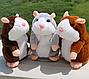Интерактивная игрушка говорящий хомяк повторюшка Woody Brown | мягкая игрушка, фото 2