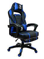 Кресло для компьютера СИНЄ DEUS LARGE Компьютерное Кресло Комп'ютерне спортивне крісло Офісне ігрове крісло