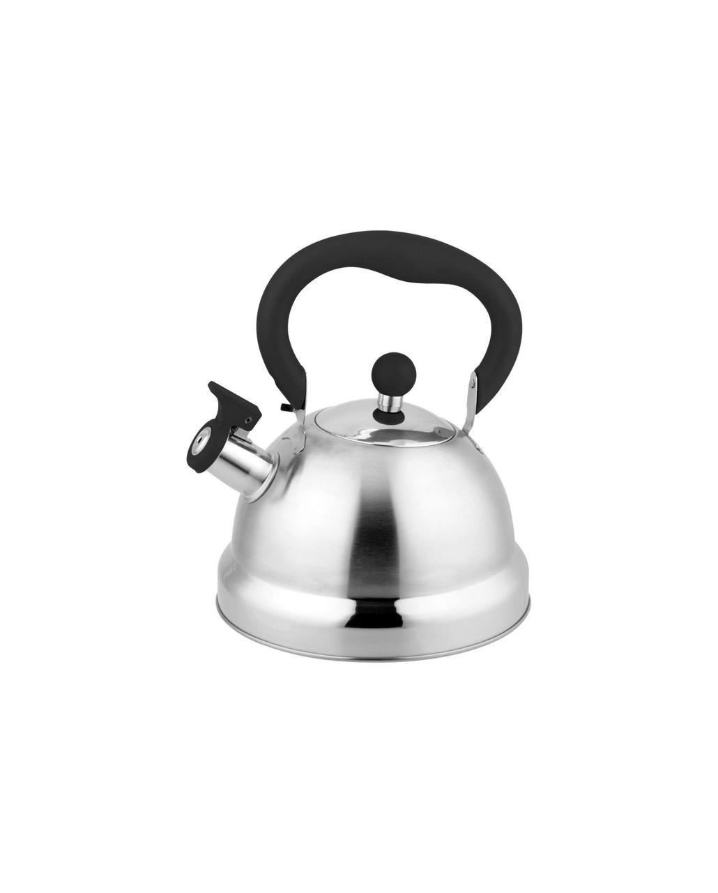 Чайник со свистком из нержавеющей стали Con Brio CB-411   металлический чайник Con Brio черный