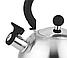 Чайник со свистком из нержавеющей стали Con Brio CB-411   металлический чайник Con Brio черный, фото 2