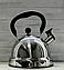 Чайник со свистком из нержавеющей стали Con Brio CB-411   металлический чайник Con Brio черный, фото 3