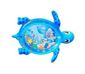 """Надувний дитячий розвиваючий водний килимок """"Черепашка""""   водний килимок з водою і рибками"""