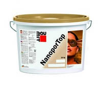 Баумит Нанопор Топ (Baumit NanoporTop) штукатурка нанопоровая декоративная фасадная ведро 25 кг.