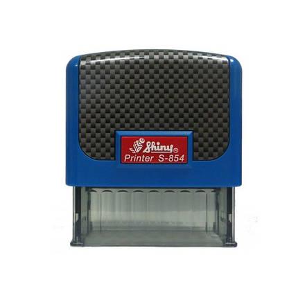 "Оснастка пластиковая для штампа Shiny Printer S-854 ""Карбон"" 58х22 мм, синяя, фото 2"