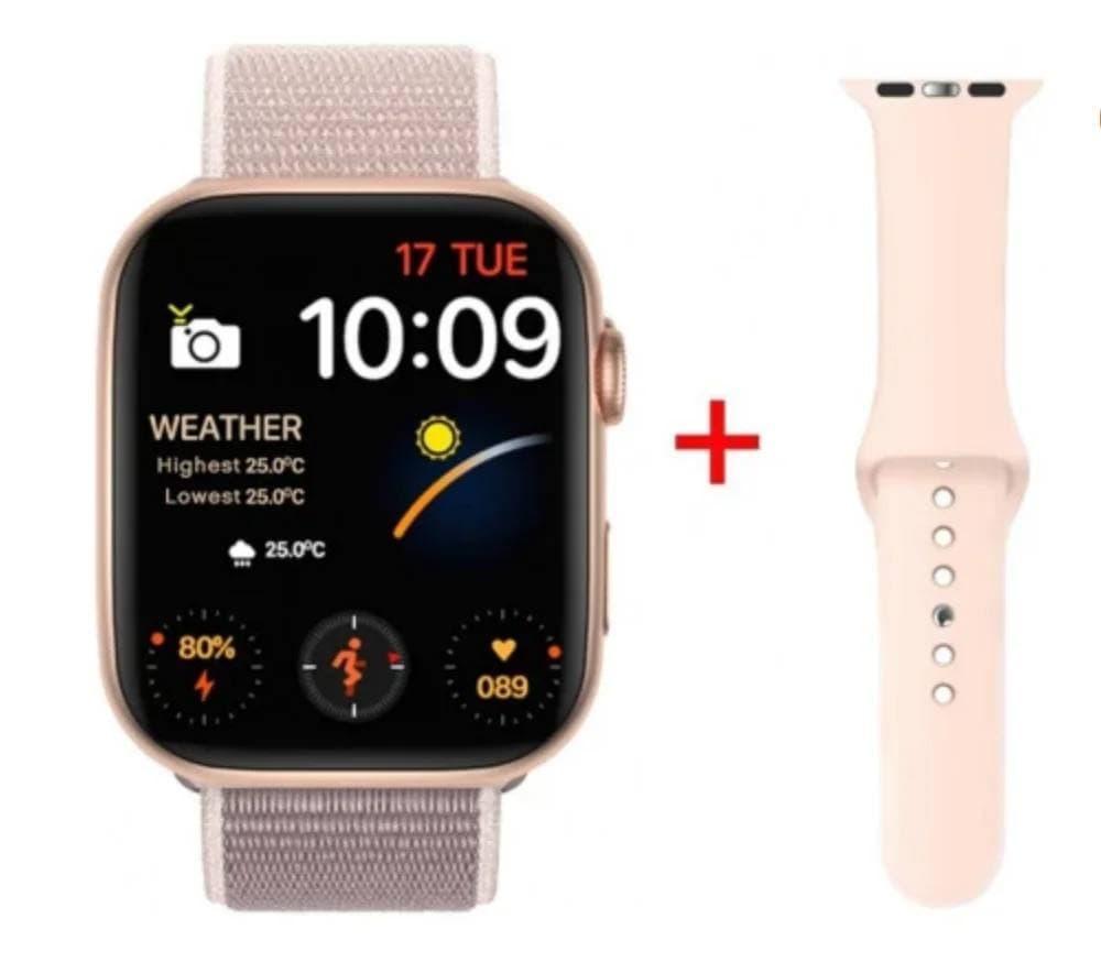 Умные часы Smart Watch IWO 88  44mm( 6 series) Pink  2 ремешка