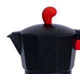 Гейзерна кавоварка Con Brio CB-6609 на 9 чашок | турка Con Brio червона, фото 3