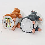 Інтерактивна іграшка говорить хом'як повторюшка Woody Brown   м'яка іграшка, фото 3