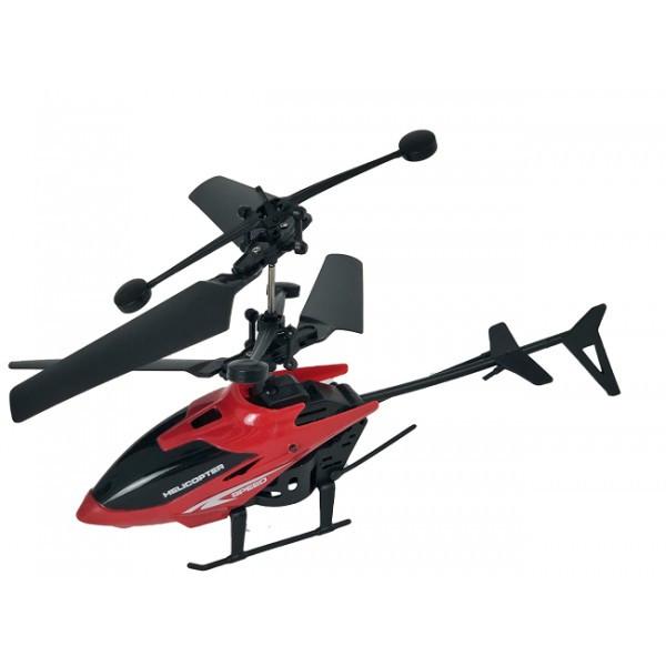 Летающий вертолет c сенсорным управлением рукой usb красный | инновационная игрушка
