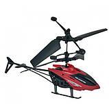 Летающий вертолет c сенсорным управлением рукой usb красный | инновационная игрушка, фото 3