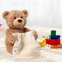 Интерактивная игрушка говорящий Мишка Пикабу Peekaboo Bear | мягкая игрушка, фото 1