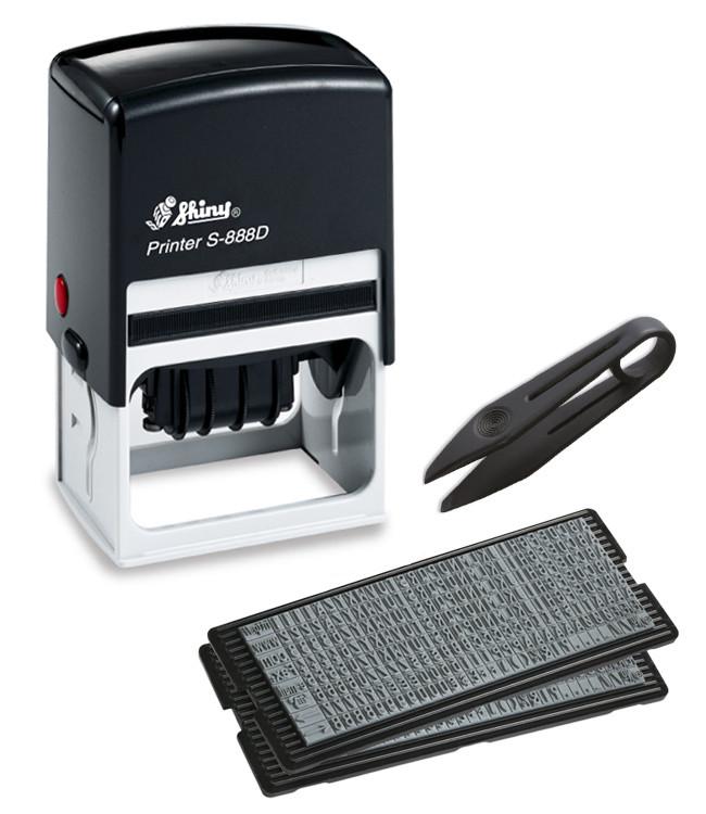 Самонаборный датер-штамп Shiny S-888D (56 x 33 мм) 4 строки