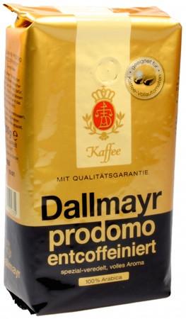 Кофе в зернах Dallmayr Prodomo Entcoffeiniert(без кофеина), 500г