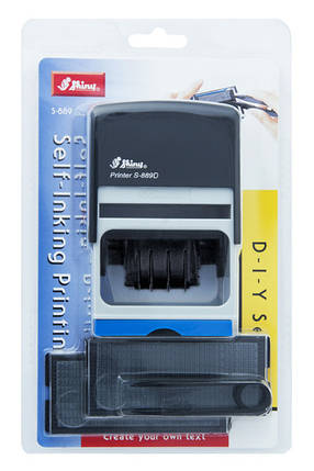 Самонаборный датер-штамп Shiny S-888D (56 x 33 мм) 4 строки, фото 2