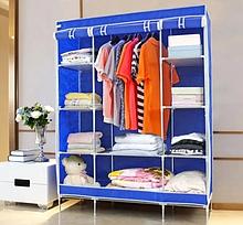 Тканевый шкаф - органайзер для вещей HCX 68130 на 3 секции | складной шкаф Storage Wardrobe