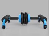 Универсальный тренажер для дома Multifunction Abdominal Wheel голубой, фото 2