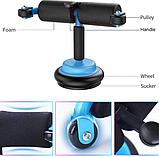 Универсальный тренажер для дома Multifunction Abdominal Wheel голубой, фото 3