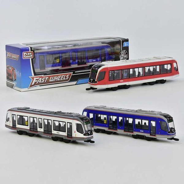 Трамвай металлопластик 6583 (96) 3 вида, инерция, в коробке [Коробка]