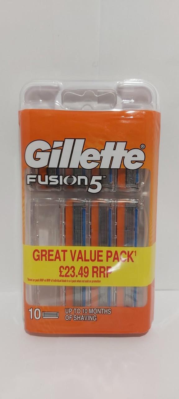 Кассеты для бритья Gillette Fusion 10шт. оригинал