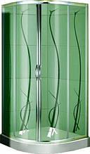 FS-05/80 (80х80см). Душевая кабина KO&PO с мелким поддоном (13,5см), стекло с декором