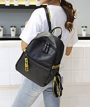 Городская стильная сумка. Женский рюкзак черный. Женский портфель. ДР08-12