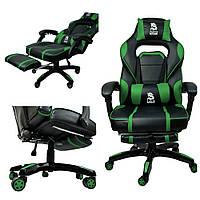 Ігрове крісло Игровое кресло DEUS LARGE чорно-зелене Стул компьютерный Геймерське крісло Геймерское кресло