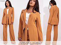 Діловий стильний жіночий брючний костюм двійка: піджак + штани (р. 42-54). Арт-2890/23
