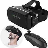 Очки виртуальной реальности с пультом управления для телефона шлем 3d vr Shinecon с Джойстиком Bluetooth