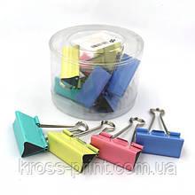 Затиск для паперів кольоровий 51мм DSCN5235-51 12шт/уп