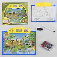 "Плакат-досточка 7172 (24/2) ""Play Smart"" зоопарк, обучающий, интерактивный, на бат-ке, в кор-ке"