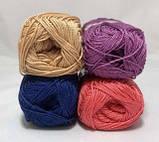 Пряжа хлопковая Vita Cotton Rose, Color No.4254 темно-синий, фото 3