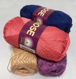 Пряжа хлопковая Vita Cotton Rose, Color No.4254 темно-синий, фото 6