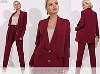 Офісний діловий стильний жіночий брючний костюм двійка: піджак + штани (р. 42-48). Арт-2891/23