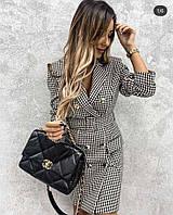 Жіноче стильне приталенне плаття піджак