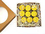 Набор чайных свечей из пчелиного воска в гильзе 18 шт, фото 4